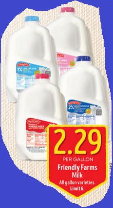 Aldi milk on sale