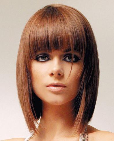 moda cabellos cortes de pelo hasta los hombros invierno