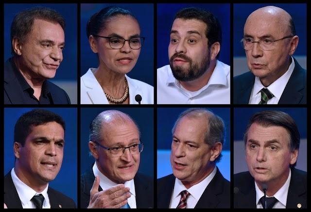 Pesquisa Ibope: Bolsonaro, 28%; Haddad, 22%; Ciro, 11%; Alckmin, 8%; Marina, 5%
