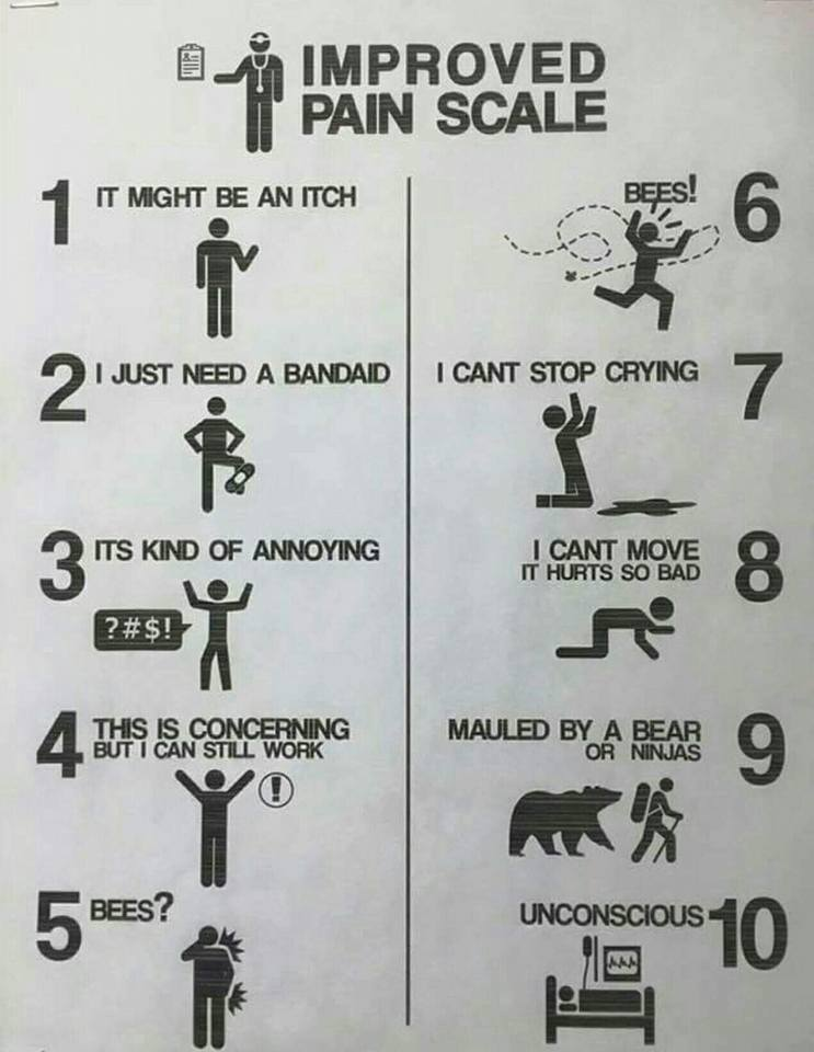 It's just a picture of Hilaire Improved Pain Scale Printable