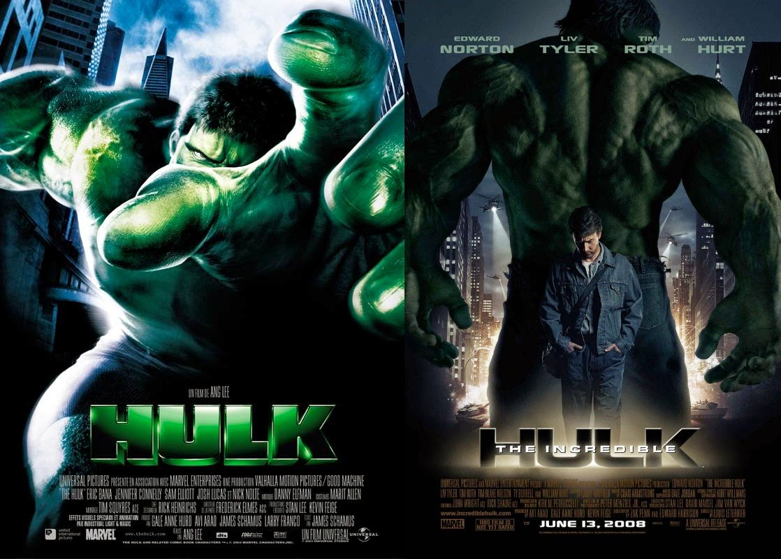 Movie Posters 2003: Random Thoughts: The Battle Of The Hulk Movies