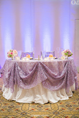 Sweetheart Table - Orlando - Real Wedding - Joie de Vie Wedding - Rosen Shingle Creek - Kirby - Purple