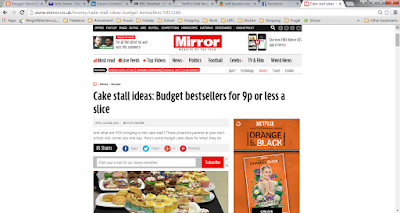 From cakes to Quorn after my latest Mirror online article