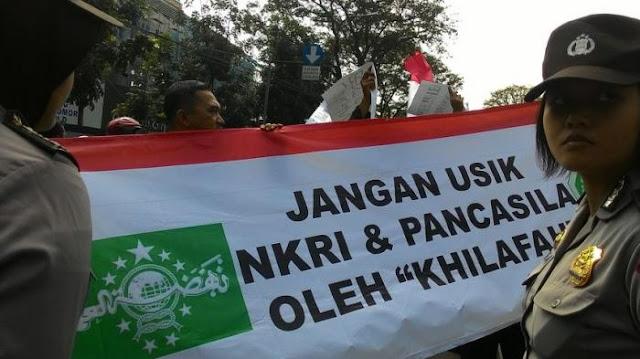 Setelah Jateng, Giliran Banser Kalbar Tolak Aksi Khilafah HTI di Masjid Raya Mujahidin Pontianak