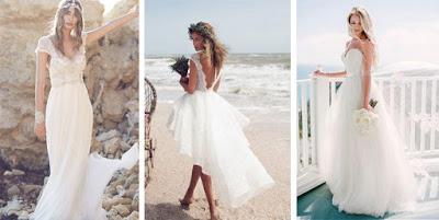 Bride | Casamento na praia - Vestidos leves e esvoaçantes