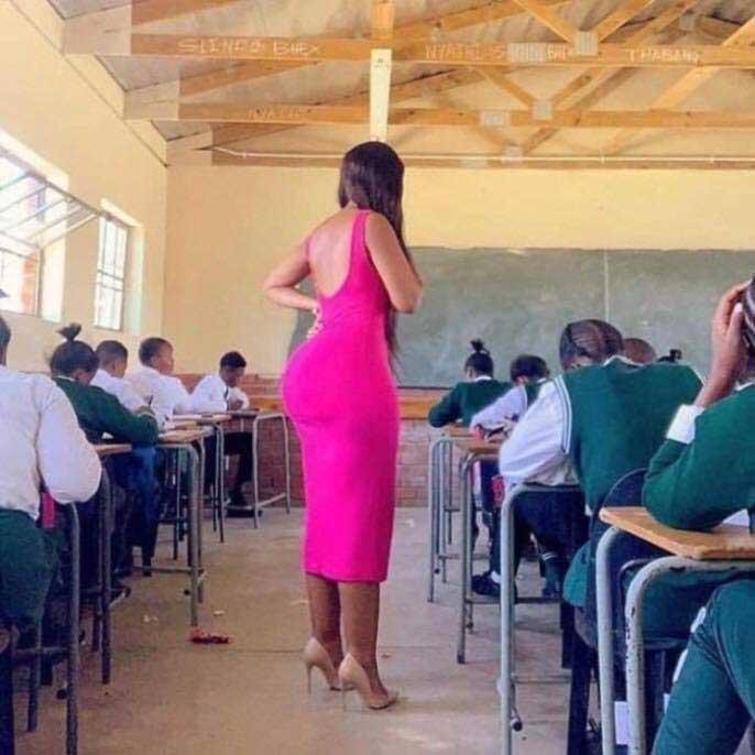 A South African Teacher With A Huge Plantation Backside Goes Viral On Social Media | PHOTOS