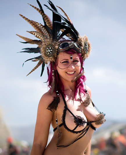 Hot women Burning man