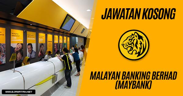 jawatan kosong terbaru maybank 2018