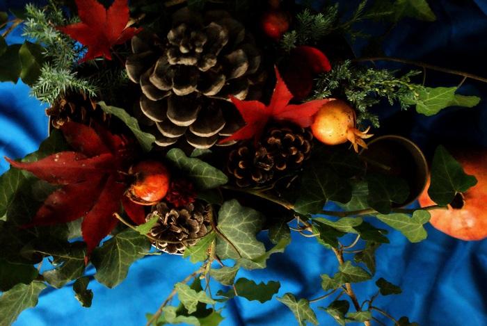 decorazione floreale autunno inverno