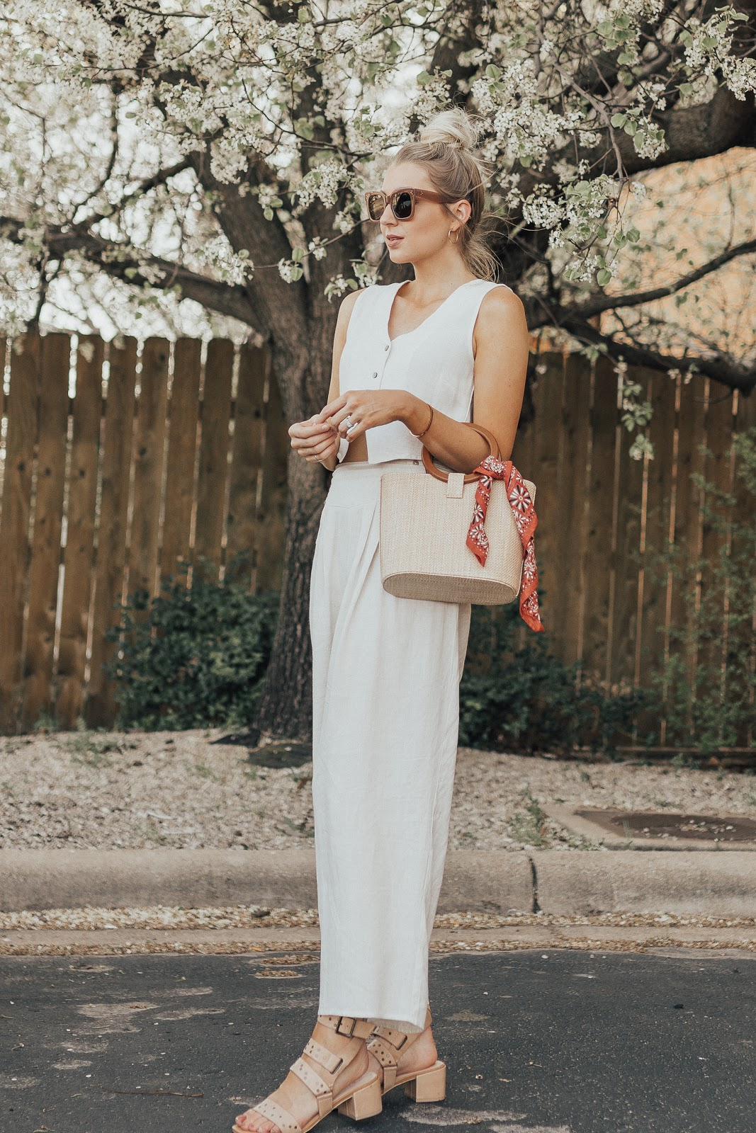 cream outfit for spring | Love, Lenore
