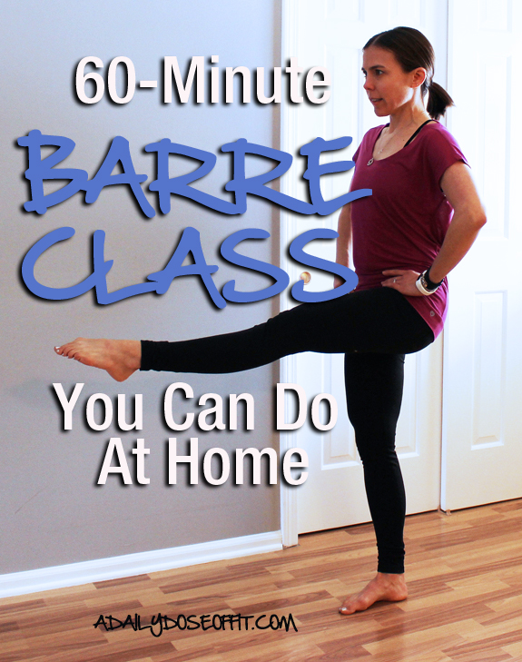 Tone and tighten your muscles with this at-home barre workout.