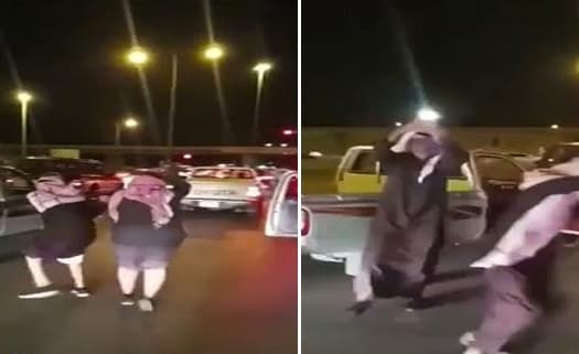 SAUDI ARRESTED 2 PERSONS FOR DANCING ON THE ROAD