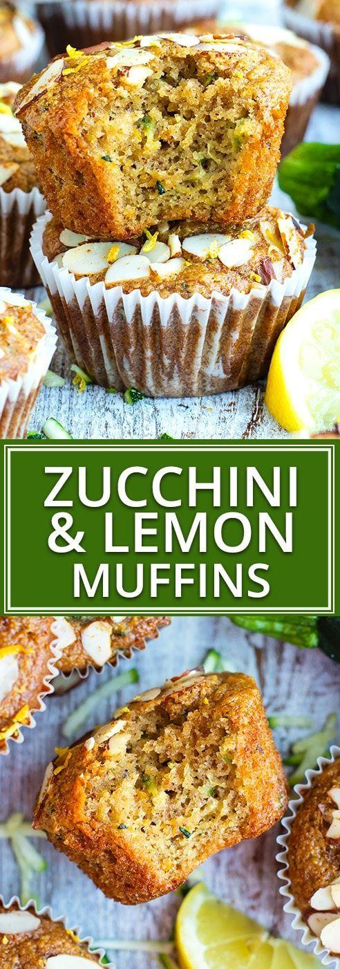 Healthy Lemon Zucchini Muffins | Paleo, Gluten Free