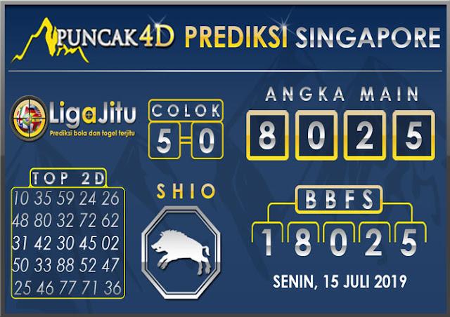 PREDIKSI TOGEL SINGAPORE PUNCAK4D 15 JULI 2019