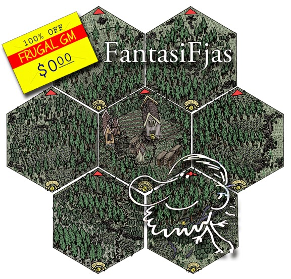 Free GM Resource: Fantasy Map Tiles from FantasiFjas - Frugal GM