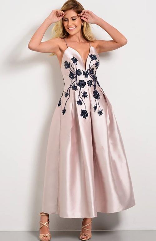 vestido de festa midi