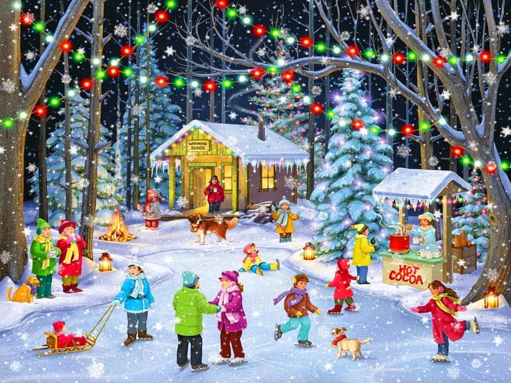 Festival-time-season-snowfall-Children-gather-play-in-snow-image-drawings-artist-1024x768-5.jpg