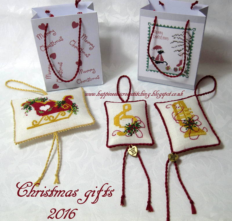 christmas ornaments finished - Cross Stitch Christmas Decorations