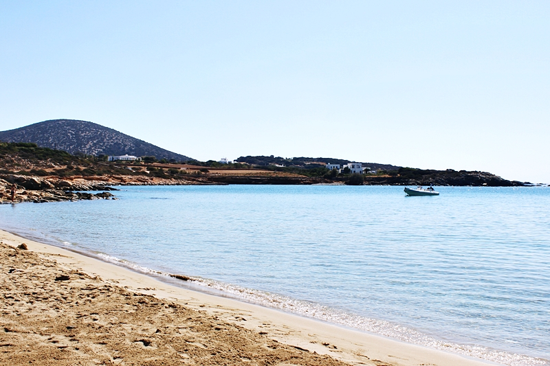 sandy and calm Faragas beach in Paros island