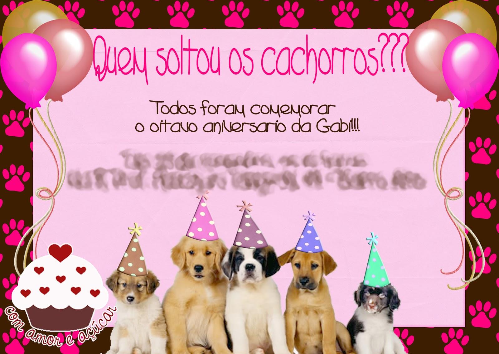 Aniversário Com Tema Cachorro