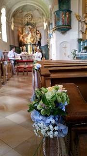 Catholic church Grainau Johannes der Täufer - Birdcage vintage wedding - Irish wedding in Bavaria, Riessersee Hotel Garmisch-Partenkirchen, wedding venue abroad