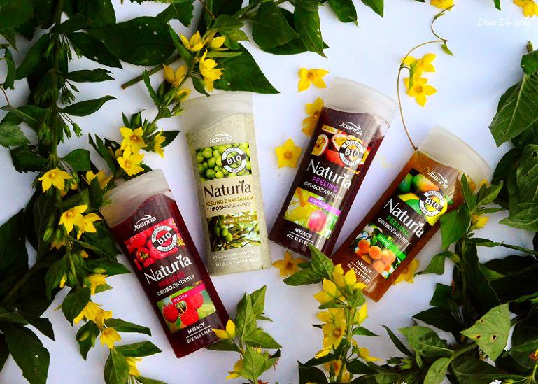 Peelingi z naturalnymi granulkami Joanna - malina, oliwa z oliwek, marakuja, mango - recenzja