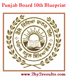 Punjab Board 10th Blueprint | PSEB 10th Class Blueprint