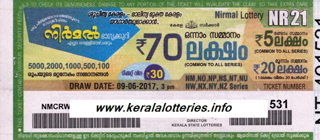Nirmal weekly lottery today (NR-25)
