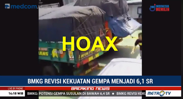 Metro TV Publikasikan Video Hoax Gempa Lebak Banten