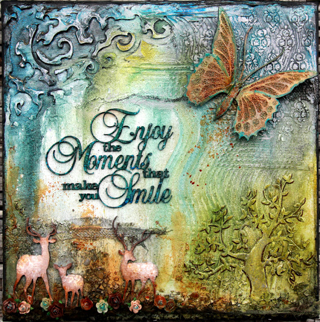 Enjoy The Moments Canvas Australian Scrapbook Ideas 19