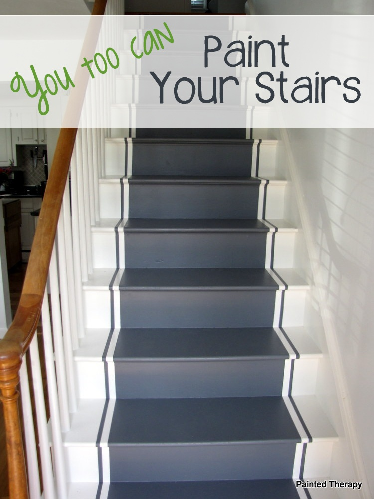 Pleasing Painted Therapy Painting Your Stairs Largest Home Design Picture Inspirations Pitcheantrous