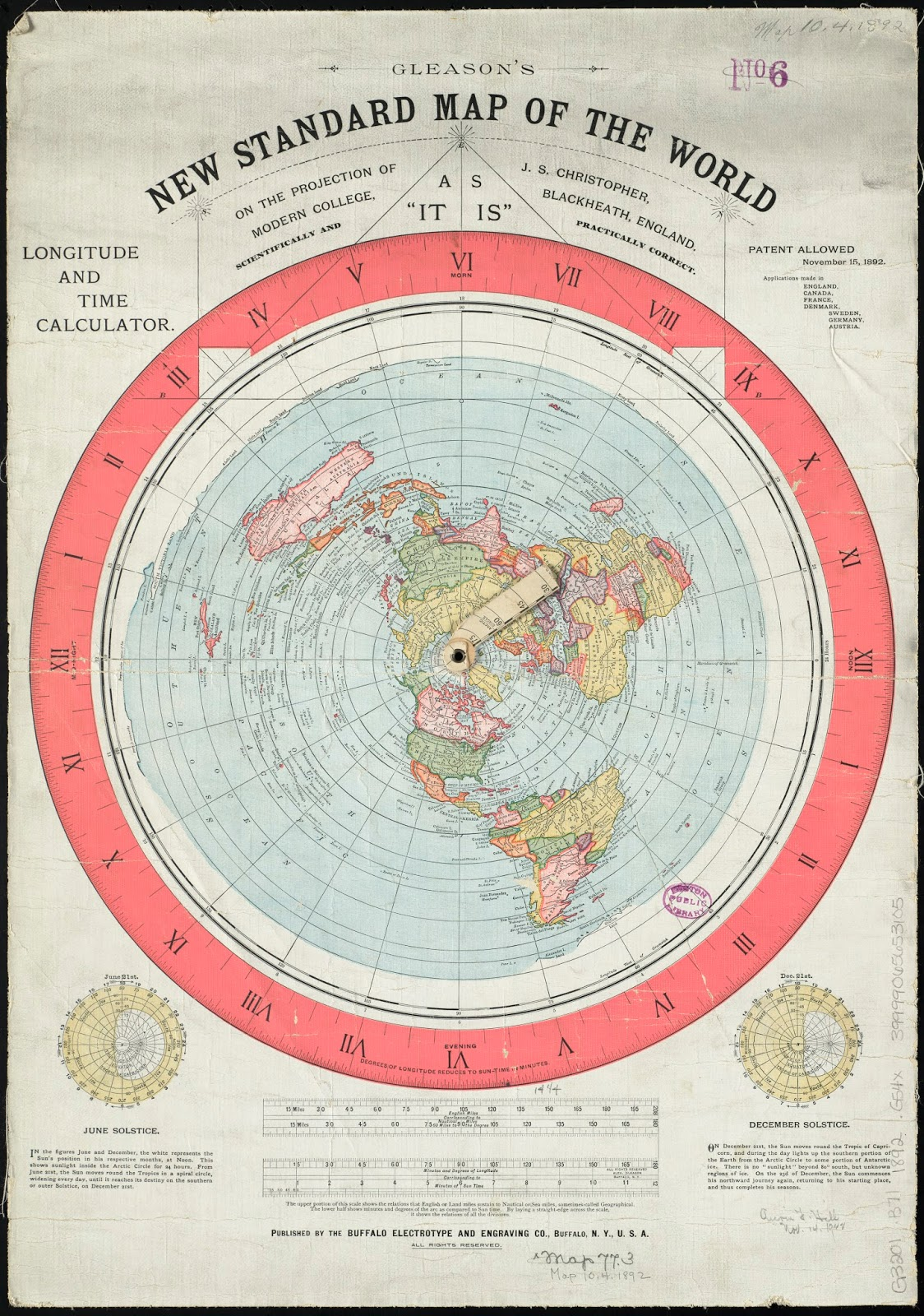 The Earth Is Not Flat! Gleason39s Map