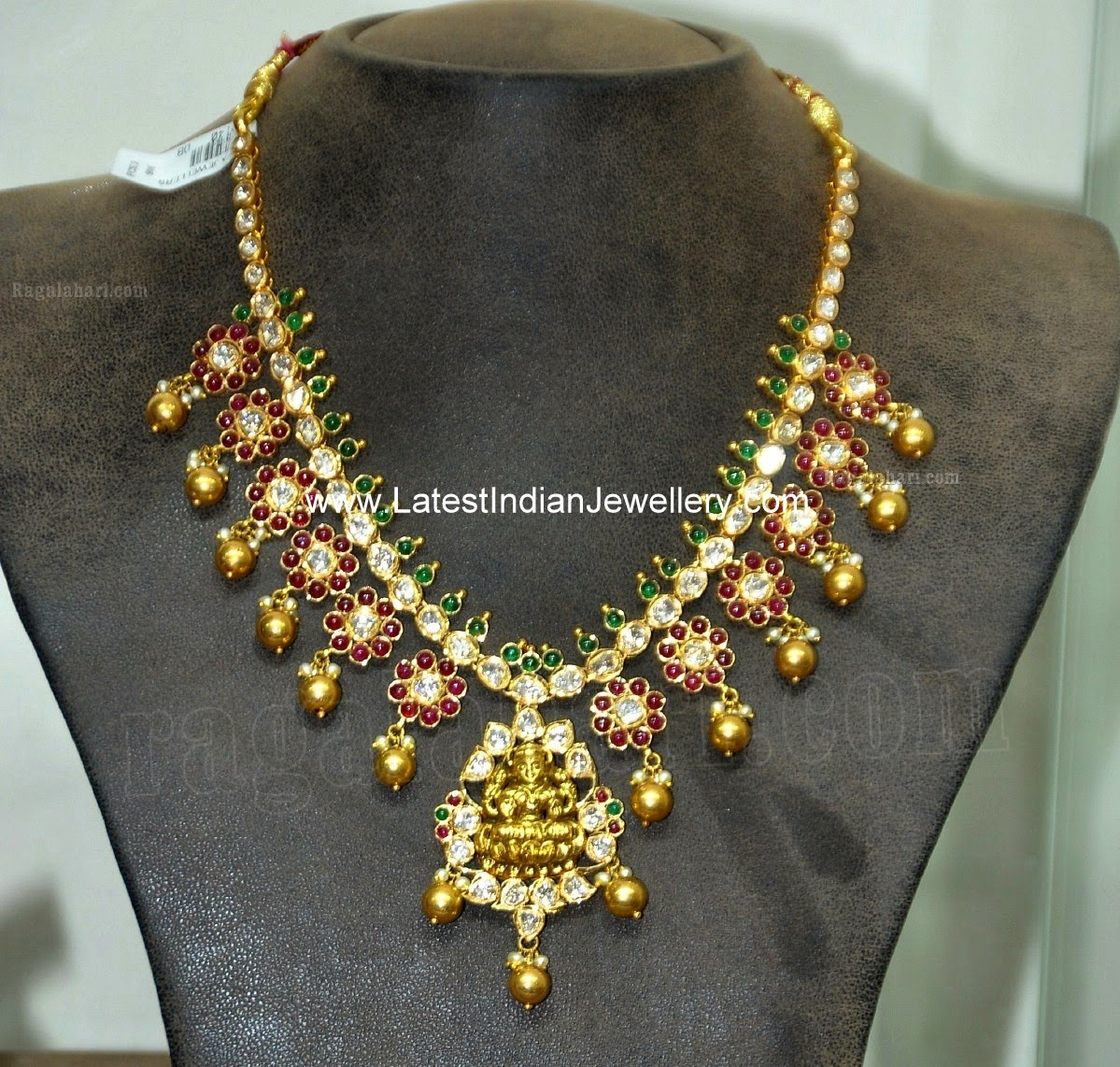 Polki Diamond Lakshmi Necklace