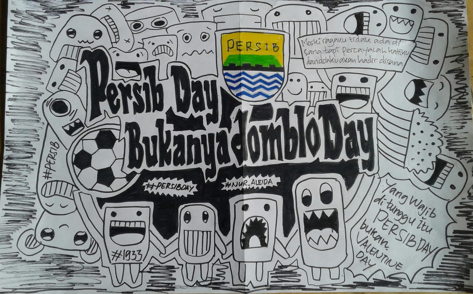 Simple Doodle Art Persib Bandung Sabadoodle