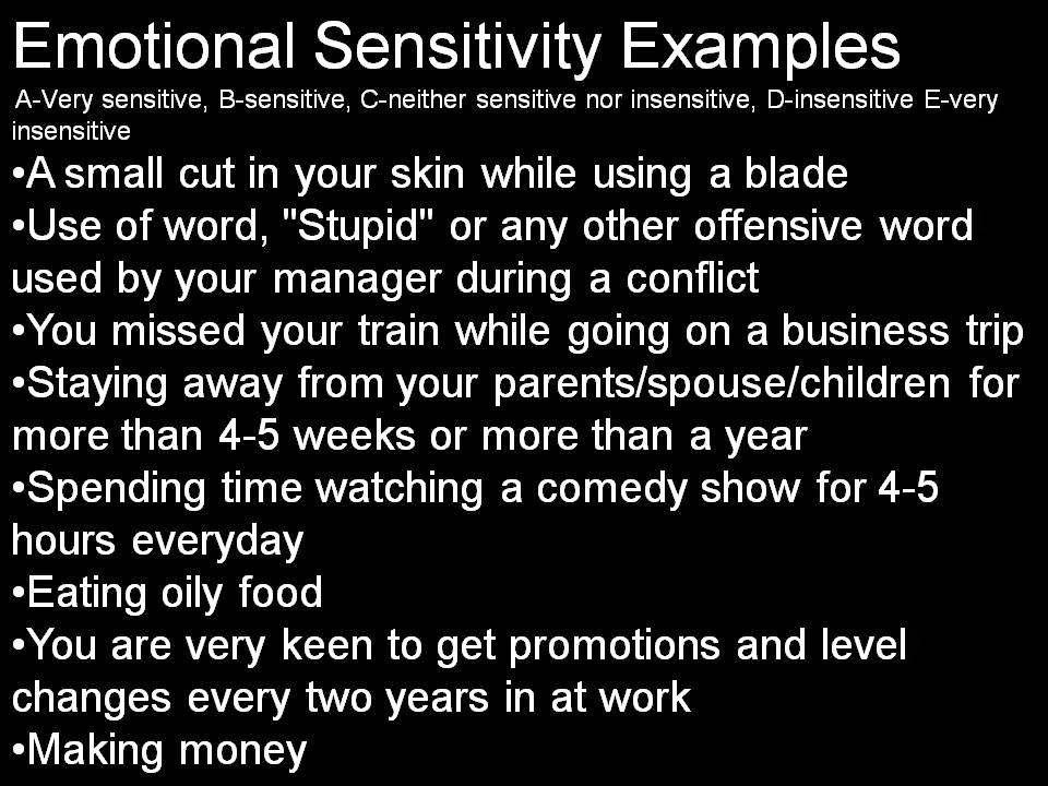 Highly Emotionally Sensitive People Examples