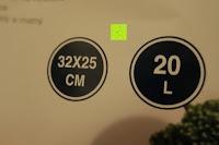 Zettel: Edelstahl Induktion Kochtopf 20 Liter (Suppentopf mit Glasdeckel, großer Topf, 32 x 25 cm, Dampfloch)