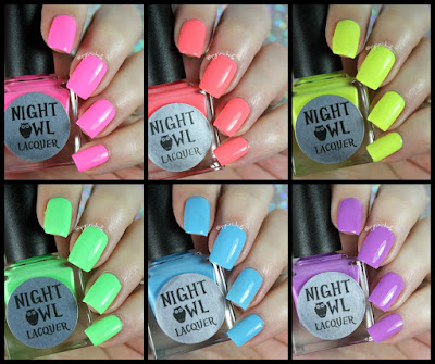 Night Owl Lacquer | Light & Bright Neon Creams