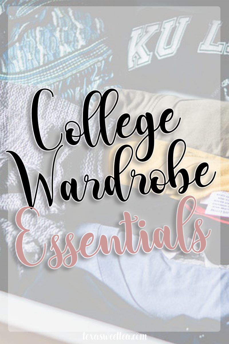 Don't waste precious space in your car by taking old t-shirts with you to college. Instead, try to only pack the essentials that I have shared in my blog post! Your closet will be full, but not overflowing, and you'll never feel like you have nothing to wear! | texasweettea