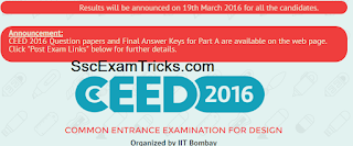 CEED Result 2016 Scorecard Declared