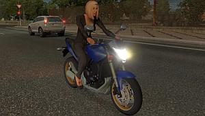 AI traffic Honda CB600 Hornet by jazzycat