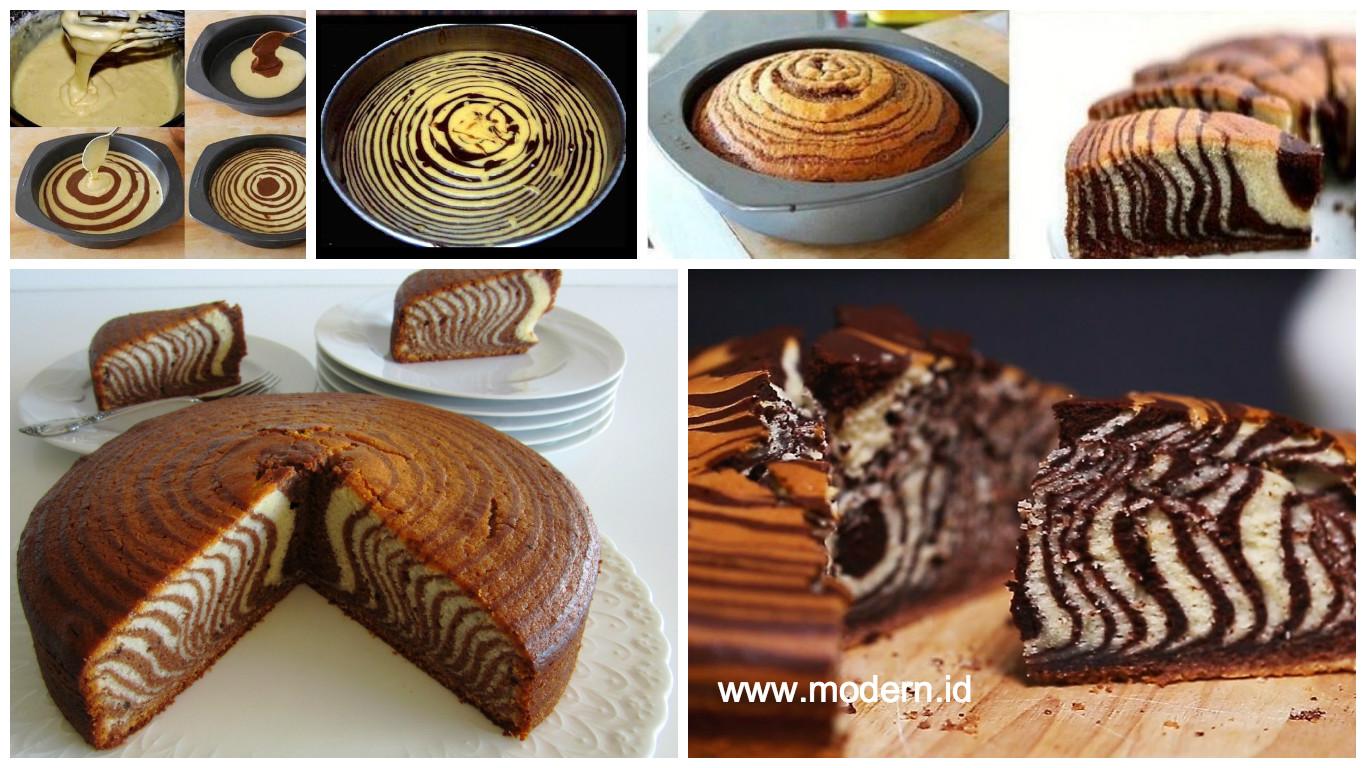 Resep Membuat Zebra Cake Kue Bolu Klasik Yang Enak Dan Melegenda