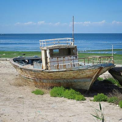 Barco de pesca en Djerba
