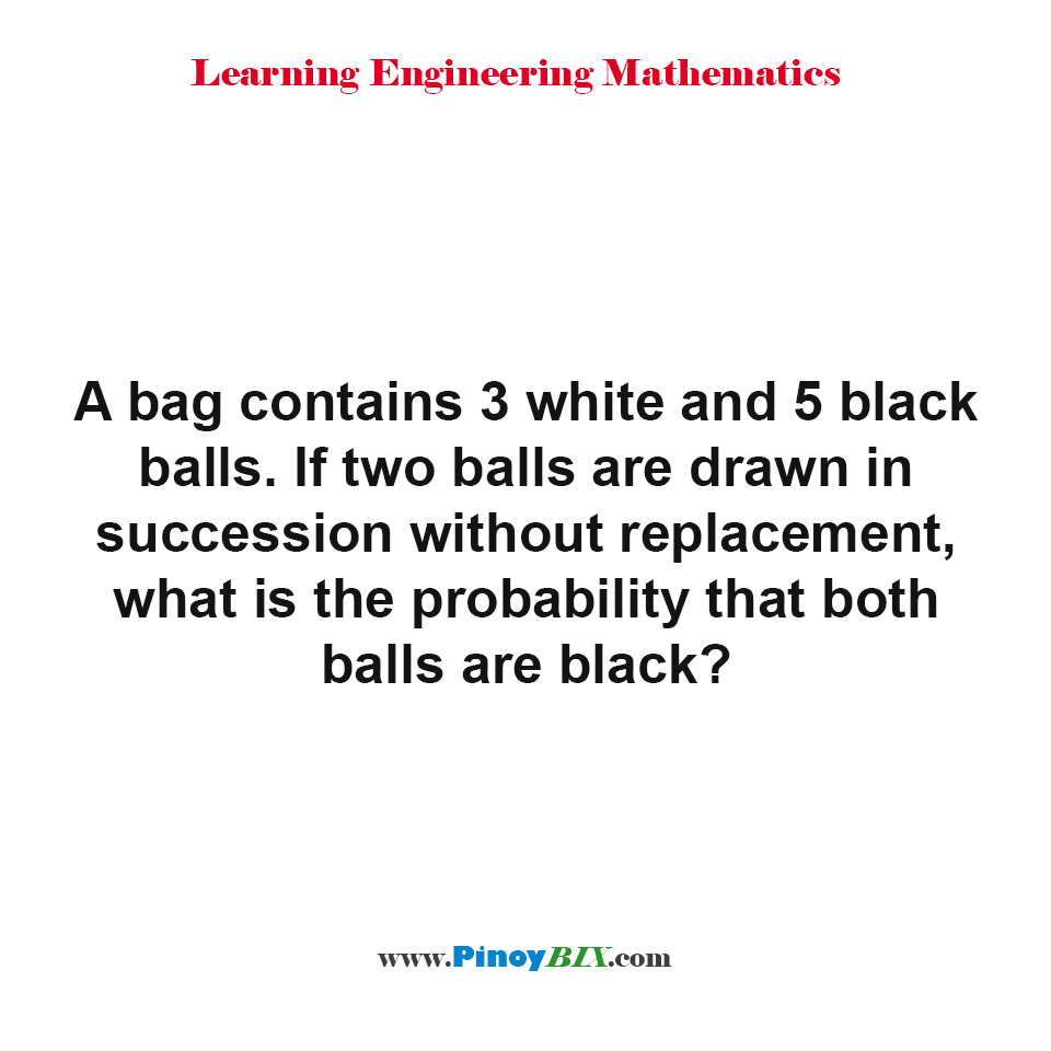 What is the probability that both balls are black?