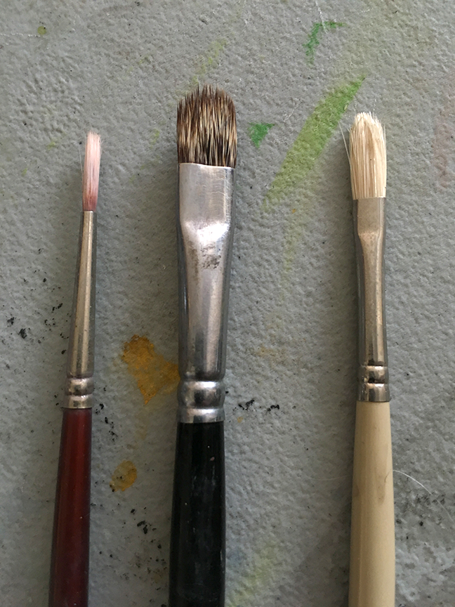 Clean Oil Paint Brushes Between Colors