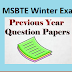 MSBTE Winter 2019 Exam Time Table Previous Year Question Paper