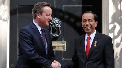 David Cameron and Joko Widodo in London