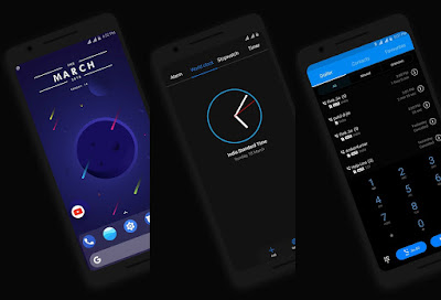 Download Huawei Theme : Android P Dark Theme For EMUI 5, 8
