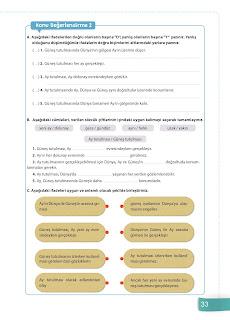 6. Sınıf Fen Bilimleri Ders Kitabı Cevapları Sevgi Yayınları Sayfa 33