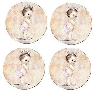 Toppers o Etiquetas de Preciosa Bebé para imprimir gratis.