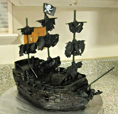 Pirate Ship Cake of The Black Pearl from Pirates of the Caribbean - Front Angle View 3